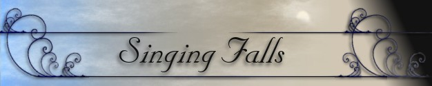 singing falls logo text