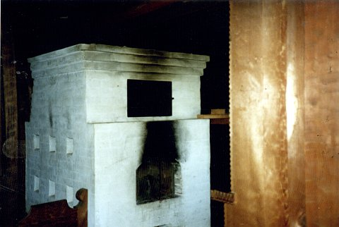 The 1830 AD Ft. Rossiya furnace in the main house.